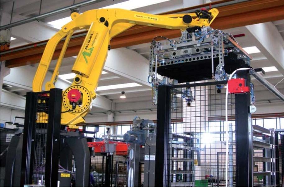 sistema de paletización robotizado adecuado-Stym Sl
